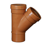 110mm 45deg Y Branch Underground Drainage - DOUBLE SOCKET
