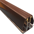 2.5M York7L Self Support Glazing Bar for 16mm Poly Brown