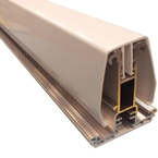 2.5M York7L Self Support Glazing Bar for 16mm Poly White