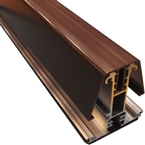 3M York7S Self Support Glazing Bar for 25/40mm Poly Brown