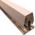 2.5M York8L Self Support Glazing Bar for 25/35mm Poly White
