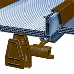 2M York8S Self Support Glazing Bar for 40/50mm Poly Brown