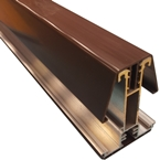 6M York8S Self Support Glazing Bar for 40/50mm Poly Brown