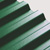 "1.82M x 1090mm (6'0"") 1.1mm Box PVC Corrugated Dark Green"