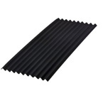 2M x 950mm Onduline Bitumen Corrugated Roofing Sheet BLACK