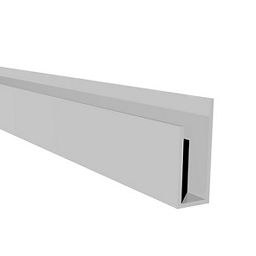 White Soffit Board Edging Trim J Trim 5m Long