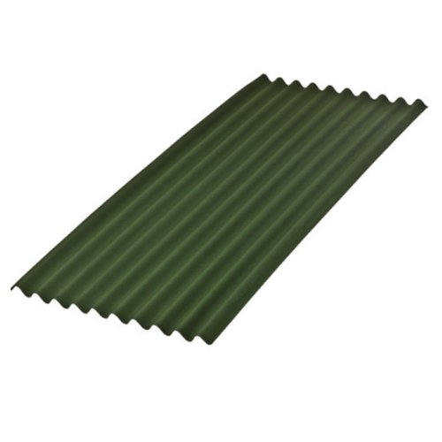 2m X 950mm Onduline Bitumen Corrugated Roofing Sheet Green
